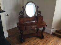 Mahogany Duchess antique dressing table around 1860