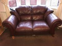3 + Seater Sofa Brown Leather