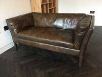 2x John Lewis Halo Groucho leather sofas (as new)