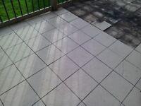 Porcelain patio tiles Kuala Cream 250 tiles 30x30