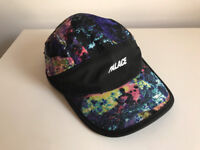 "Palace Cap - Running Hat Iments Black - SS17 ""Wild Rock Galaxy"" Deadstock / Never Worn"