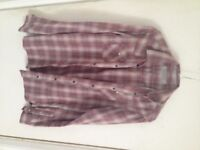 ALLSAINTS mens flannel / checked shirt - XS size