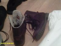 good strong boots NOT steel cap size 9 uk wool lined hardly worn