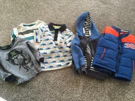Bundle of aged 2-3 boys clothes