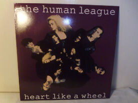 "THE HUMAN LEAGUE ""HEART LIKE A WHEEL"" VINYL 12"" SINGLE"