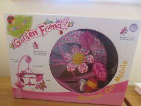 Garden Friends pink cot mobile