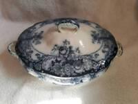 "BELMONT"" J.H.W. & SONS HANLEY ENGLAND Semi Porcelain 1895 Tureen"