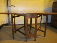 VINTAGE DANISH STYLE DOUBLE GATE LEG DINING TABLE FREE DELIVERY