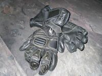 "WOMENS MOTORBIKE GLOVES "" RICHA KEPROTEC "" LEATHER BLACK "" SMALL"