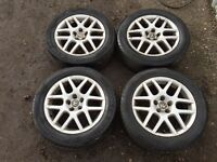 """Vw golf mk4 16"""" Montreal alloys - excellent tyres - also fit Bora / beetle"""