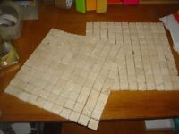 2 sheets quality wall tiles with mesh backing. Rustic Mosaic effect.