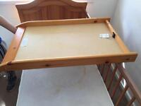Baby wooden changing tray for Cot brand new