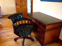 Antique Captains Desk and Chair