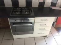 Gas hob with oven