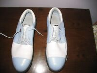 Ladies Adidas Golf Shoes size 6 blue leather
