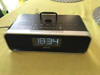 iHome digital radio alarm o clock, iPod, iPhone dock and charger