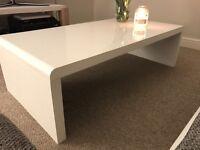 Coffee table white high gloss