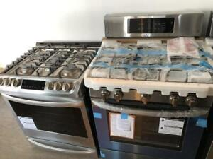 BRAND NEW GAS RANGES - ASSORTED STOCK - STAINLESS STEEL - 16665 111 AVE - MON-SAT 10-6 - 1 YEAR WARRANTY