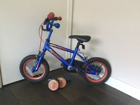 """Kids bicycle 12"""" with stabilisers"""