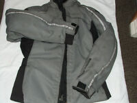 FRANK THOMAS, grey motor bike jacket , size LL