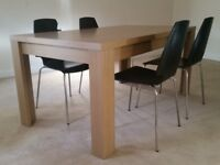 DINING TABLE AND CHAIRS £65