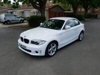 White BMW 1 Series Sport Coupe 118d - Low Mileage- 2 Owners 120d 318d 320d a3 golf