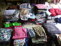 Huge collection of quality fabrics including Laura Ashley - any quantity for sale