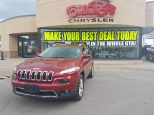 2016 Jeep Cherokee Limited 4X4 PANO ROOF NAVI LEATHER LUXURY