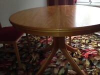 Table solid oak extendable