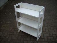 White Folding Bookshelf - Ideal for Retail or Markets