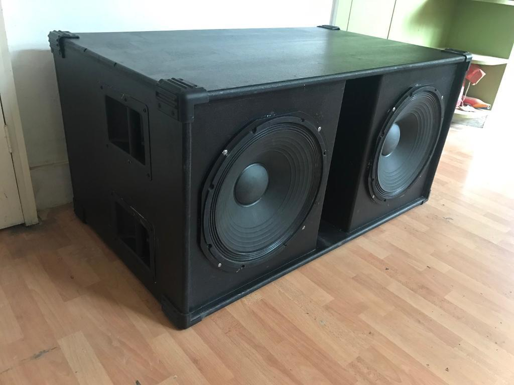 Double 15quot professional PA bass speaker box in East  : 86 from www.gumtree.com size 1024 x 768 jpeg 62kB