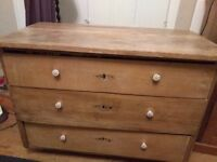 Pine chest of drawers antique, vintage, shabby chic