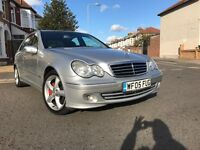 2005 MERCEDES C CLASS AUTOMATIC C220 CDI SPORT,LOW MILES 124980,-FULL SERVICE HISTORY