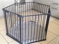 Babydan playpen. Black with grey padded base. Great condition
