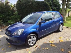 Ford Fiesta Zetec 1.4 Petrol 3dr Blue with Climate Pack