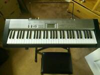 Casio LK 120 Keyboard (light up keys) with stand and stool