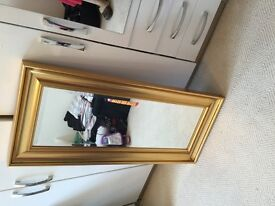 Cousins mirror, lovely gold colour frame, 47cm wide and 108cm long. Cash buyers only, fab condition!