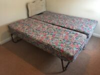 Single bed with spare underneath - great for visitors