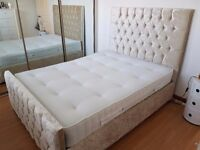 Stunning Delux Double Bed With 1000 Airsprung Matress (Bed & matress unused)