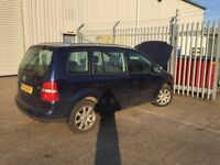 Vw touran breaking for parts.