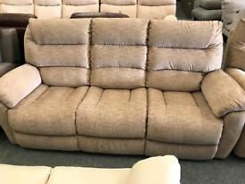 High retail 3 seater and 2 seater fabric suite