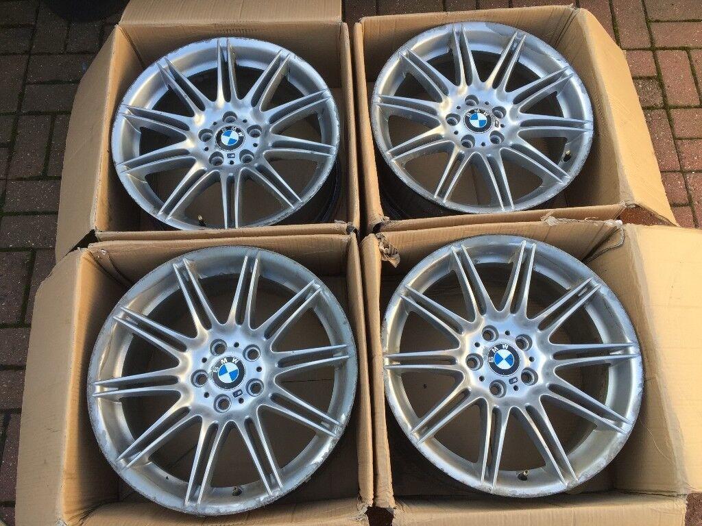 4 X Genuine Bmw Mv4 Alloy Wheels Boxed Staggered 5x120 5 120 E39 E46 E60 E61 E63 E90 E92 E93 In Croydon London Gumtree