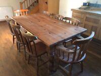 Farm House table & 8 chairs