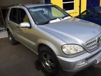 Mercedes ml 320 automatic silver 2001