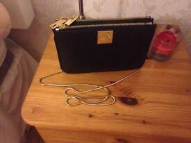 Elegant black leather TED BAKER bag