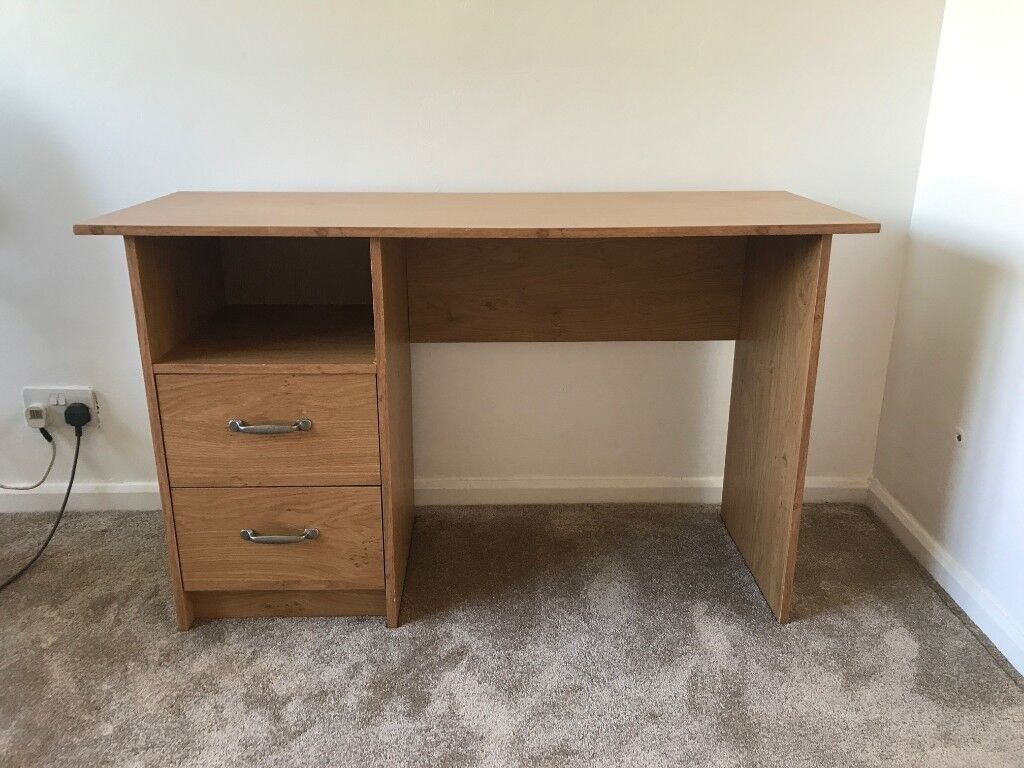 Stupendous Excellent Condition Oak Office Furniture Study Desk From Argos With 2 Drawers In Ely Cardiff Gumtree Home Interior And Landscaping Transignezvosmurscom