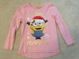 Girls 6-7 years Christmas tops