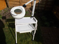 BEAUTY THERAPIST/NAIL TECHNICIAN PROFESSIONAL TROLLEY & MAGNIFYING LAMP