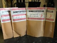 2 month supply of day and night of Skinny Coffee Club coffee £38
