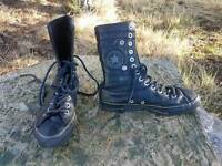 Girls Converse leather boots